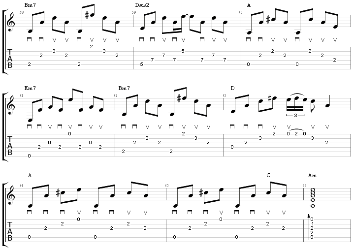 Guitar Bridge section of the song Shallow Lady Gaga Bradley Cooper