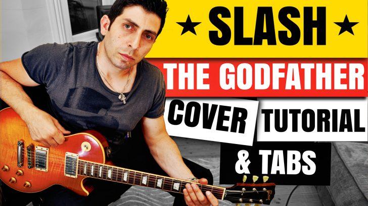 Slash Godfather Theme Guitar Lesson Tutorial Guitar tabs guitar Backingtrack chorus Guitar-Lessons-London-Uk-Alex-Bonanno