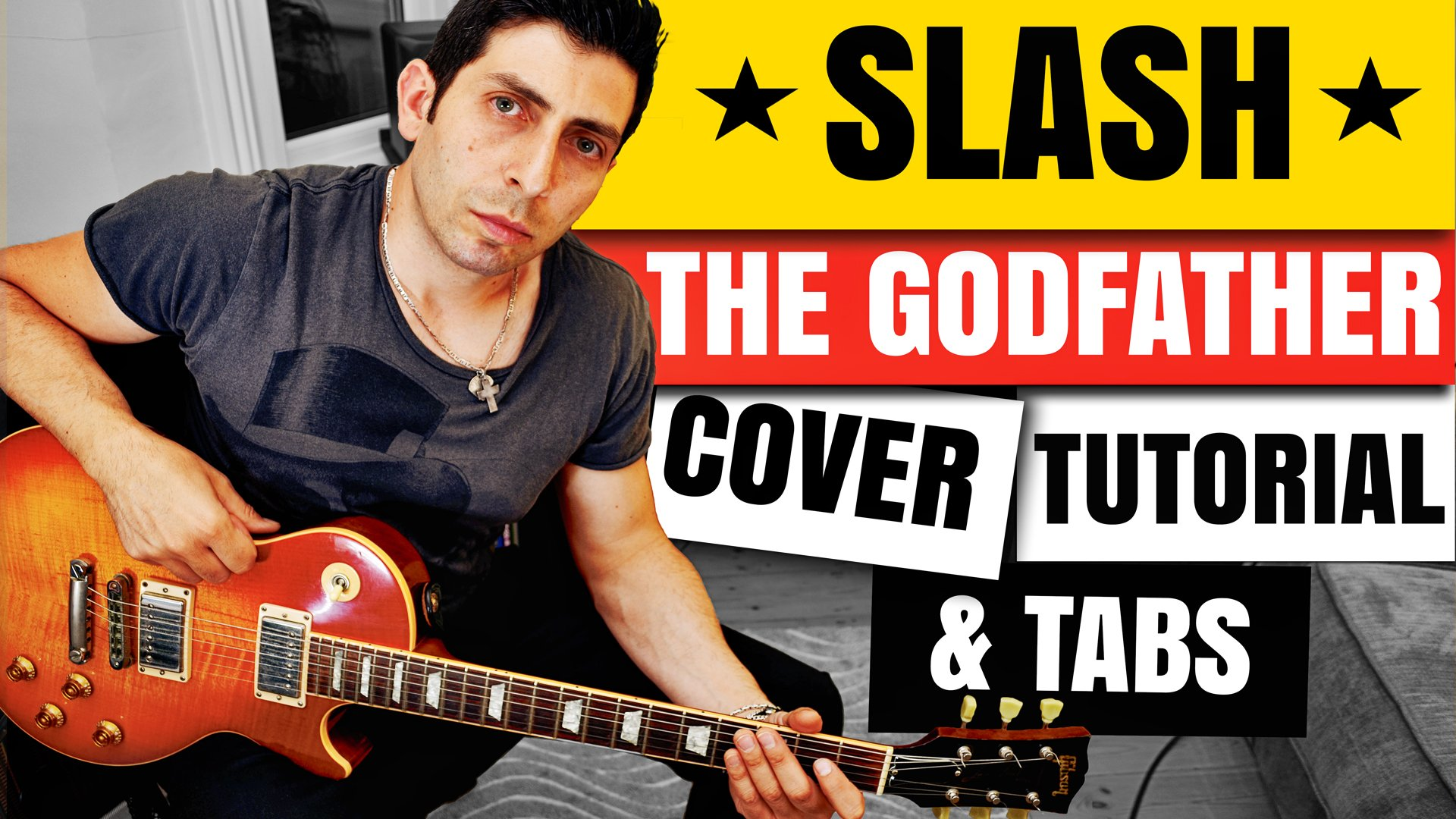 Slash Godfather Theme Guitar Lesson Tutorial Guitar tabs guitar Backingtrack chorus Guitar-Lessons-London-Uk-Alex-Bonanno